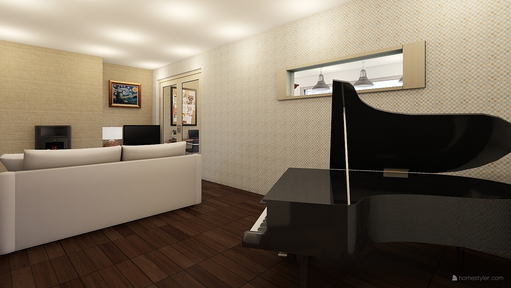 Grand piano in L-shape