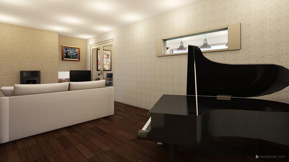 Grand piano in L-shape
