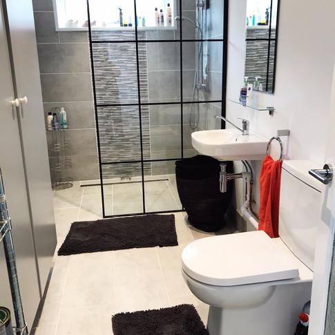 shower, downstairs loo