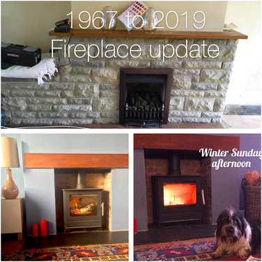Fireplace makeover for Christmas