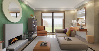Modern asian living room_Unnamed space f
