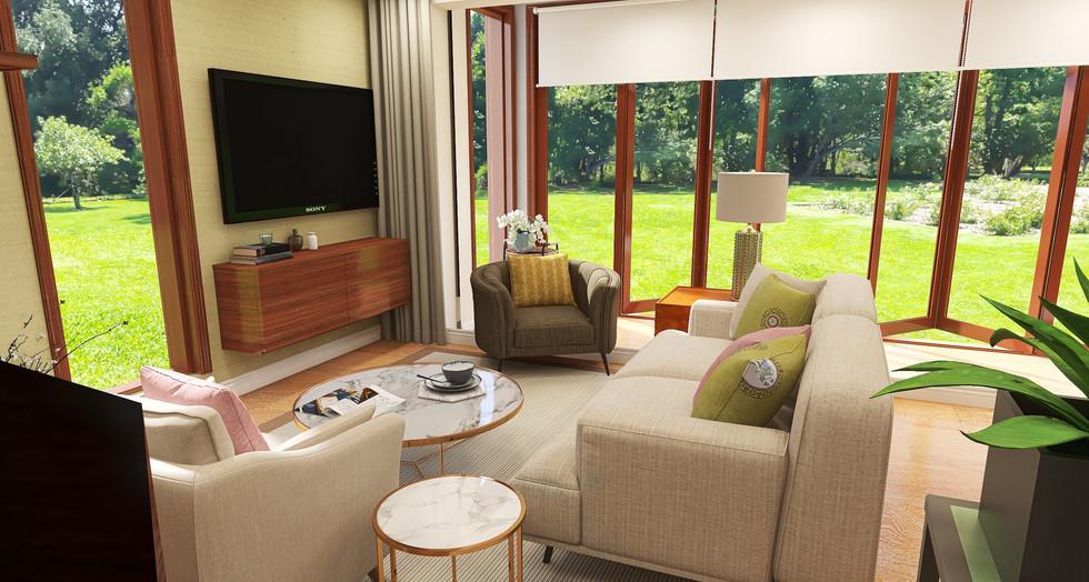 Little Greene Slaked Lime living room