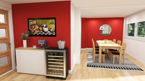 Dining area with wine cooler .jpeg