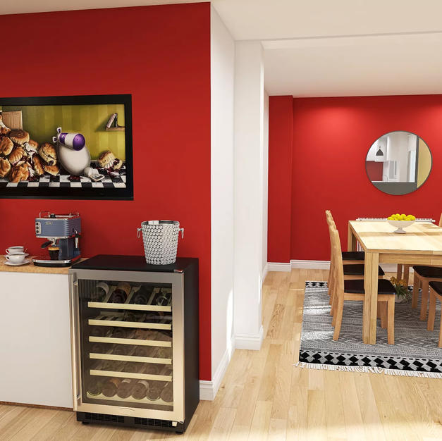 Love red? Contemporary and cosy!