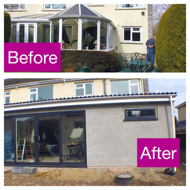 Extension before and after