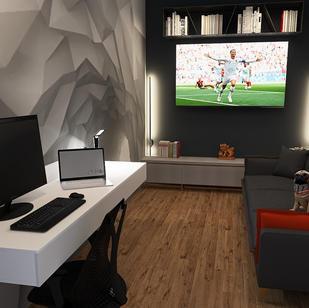 Azmi's garage office