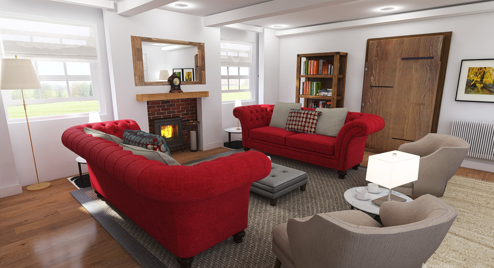 Period house living room square proportions