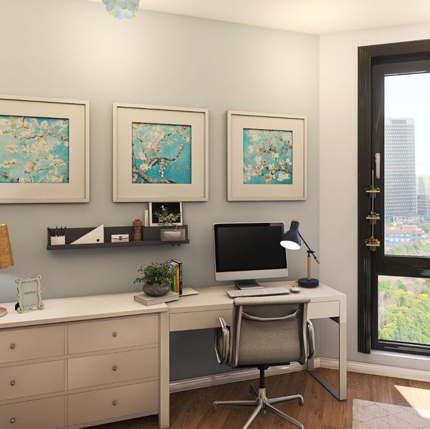 Charlotte's bedroom/office
