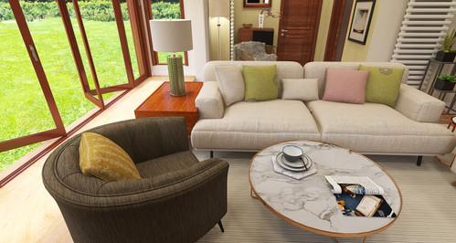 Decor scheme in pastels and neutrals
