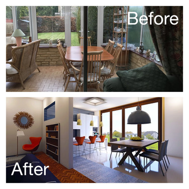 Before and after conservatory