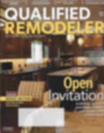 Qualified Remodeler Magazine cover with award winning kitchen design.