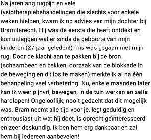 Rugpijn Amsterdam