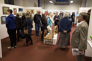 Visitors enjoying the exhibition