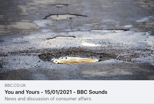 BBC Radio4 'You & Yours' Programme