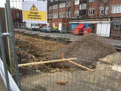 Site existing - Demolition of Garages Al
