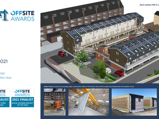 ZED PODS made finalists in three categories in the Offsite Awards 2021