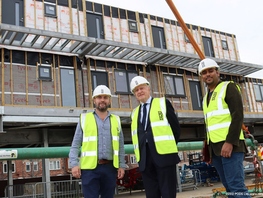 Craning works at Burnt Ash Lane bring housing project closer to completion