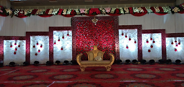 reception stage decorations