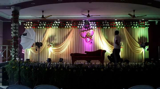 reception stage decorators
