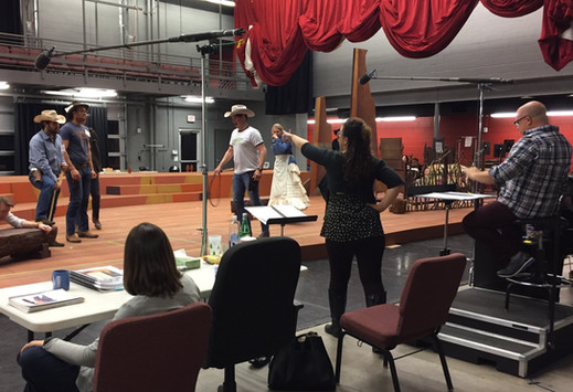 Leading Rehearsal for 'Riders of the Purple Sage' at Arizona Opera