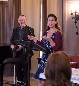 Addressing the Cast of 'Gianni Schicchi' at Opera Santa Barbara