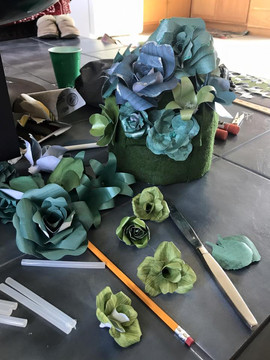 Paper Flowers in Process