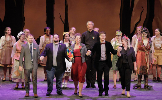Final Bows on Opening Night of Papermoon Opera Production's, 'Hansel und Gretel'