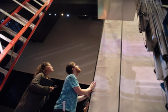 With Papermoon Productions Co-Creator and Set Designer, Jefferson Ridenour, During Load-In for 'Madama Butterfly' at Inland Northwest Opera