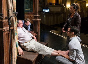 Safety Check During Spacing Rehearsal for 'Gianni Schicchi' at Opera Santa Barbara
