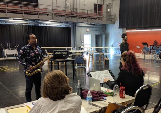 During Rehearsal for 'Charlie Parker's Yardbird' at Arizona Opera