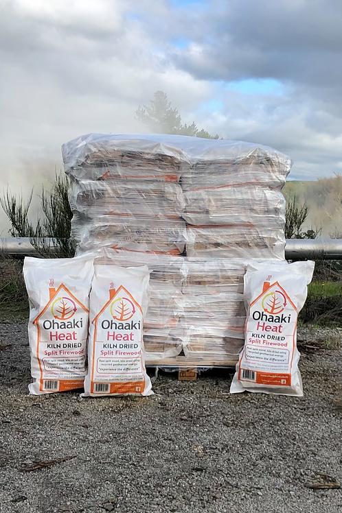 ROTORUA 36 x Bags Kiln Dried, Split Firewood- Delivered Via PBT Transport* Urban