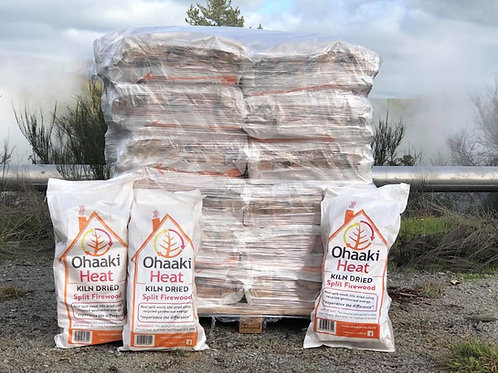 TAUPO -36 x Bags Kiln Dried, Split Firewood- Delivered Via PBT* Urban only