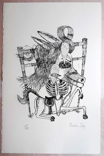 Caroline Sury lithographie