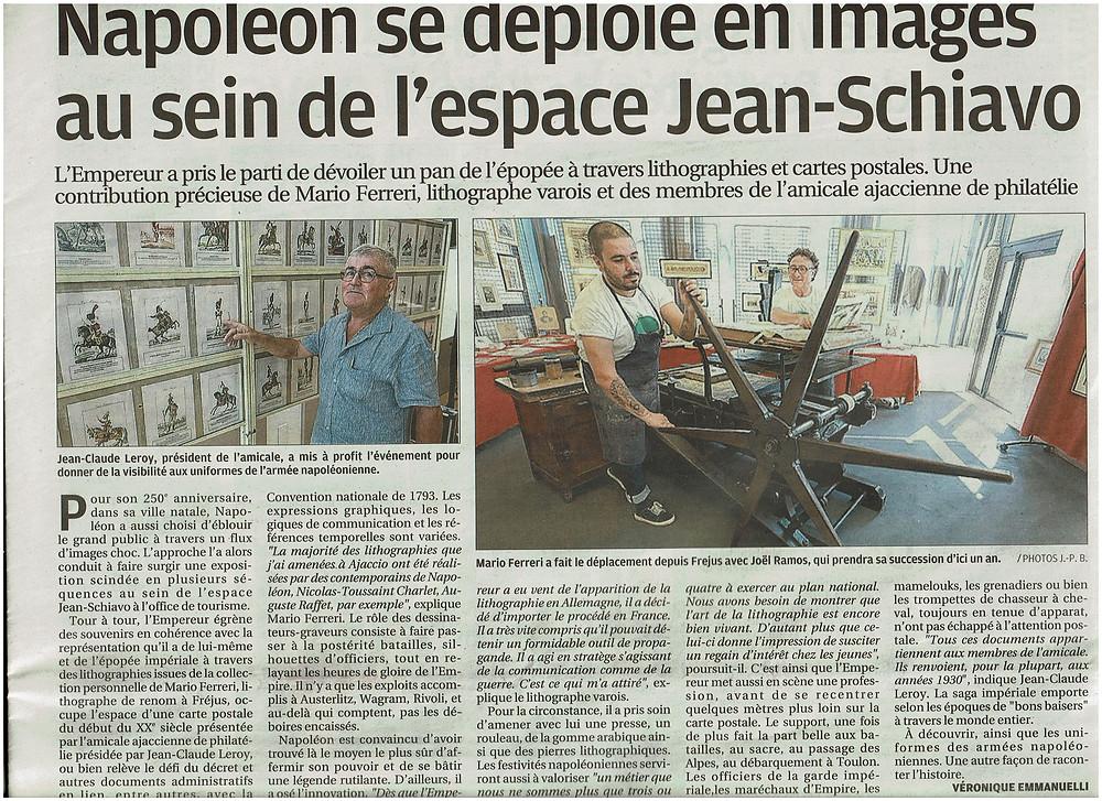 Joël Ramos Mario Ferreri Lithographie Lithography Napoléon