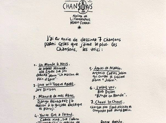 7 chansons Charles Berberian