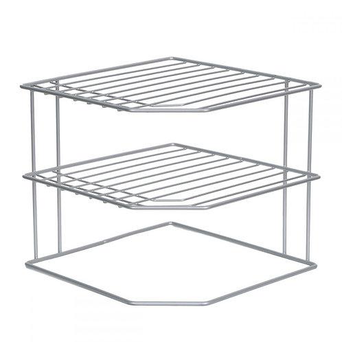 Silver Corner Dish Rack