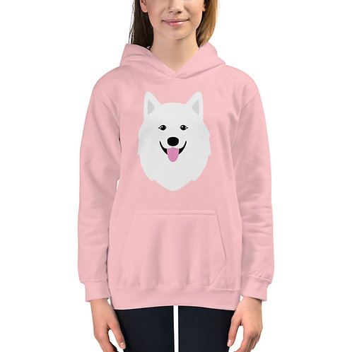 """Samoyed"" hoodie for kids"