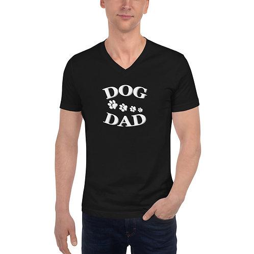 """Dog Dad"" V-Ausschnitt T-Shirt für Männer"