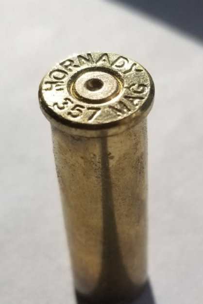 Once fired 357 Mag Brass