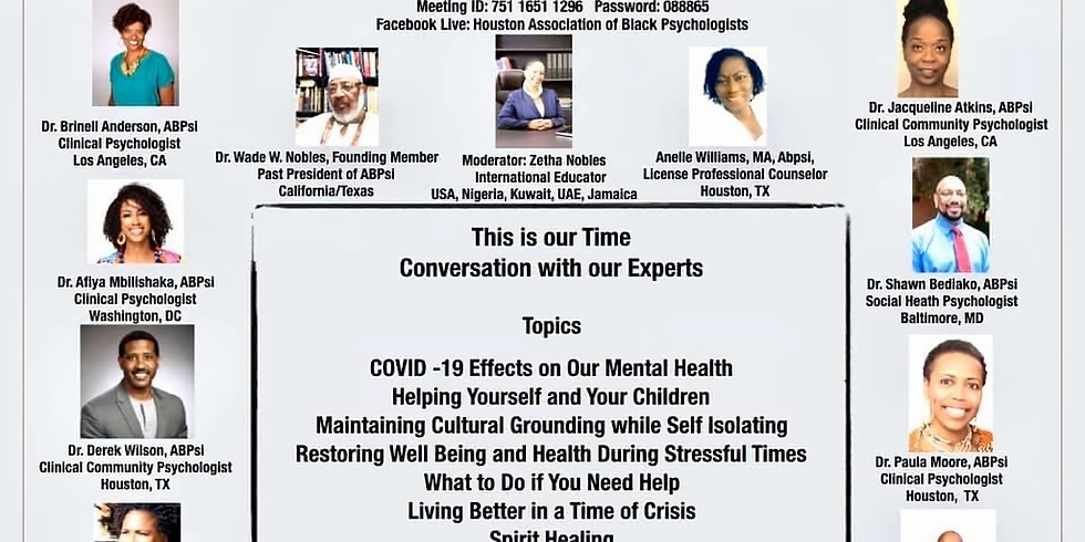 Conversation with Black Psychologists about the Effects of COVID-19