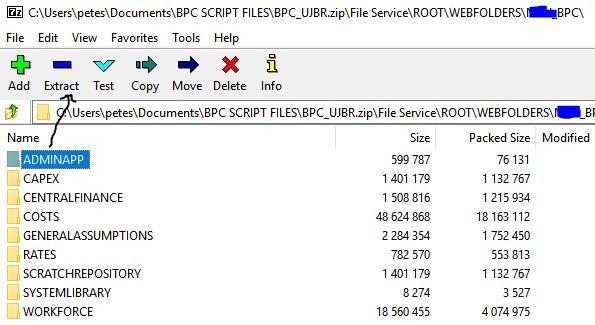 Files inside zip