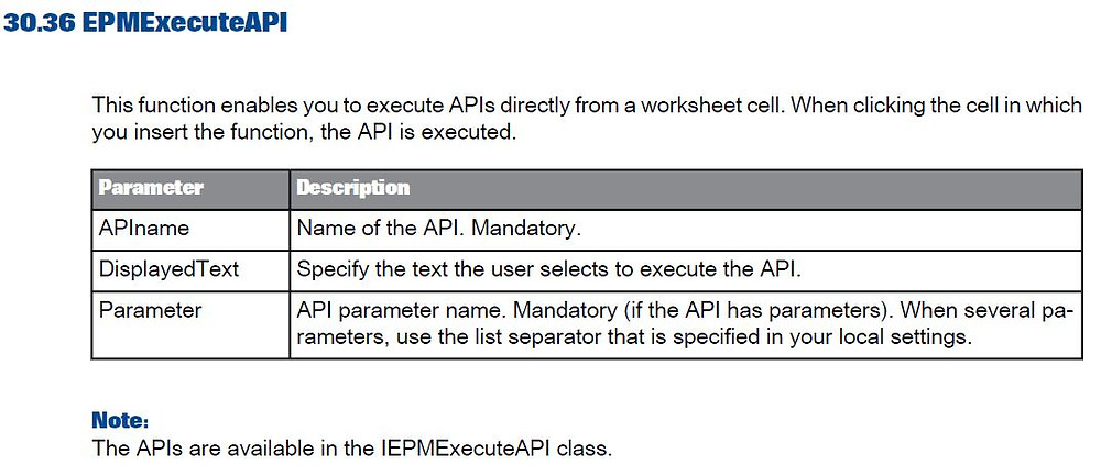 Extract fom SAP EPM User Guide