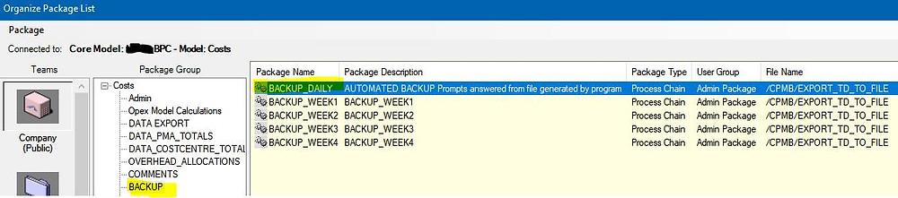 Data manager package screenshot