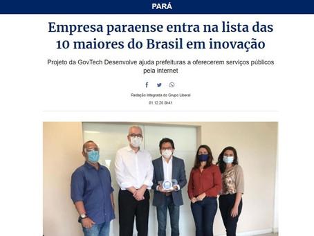 Empresa paraense entra na lista das 10 maiores do Brasil em inovação