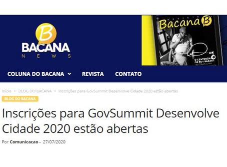 Inscrições para GovSummit Desenvolve Cidade 2020 estão abertas