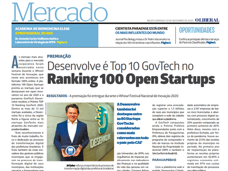 Desenvolve é Top 10 GovTech no Ranking 100 Open Startups