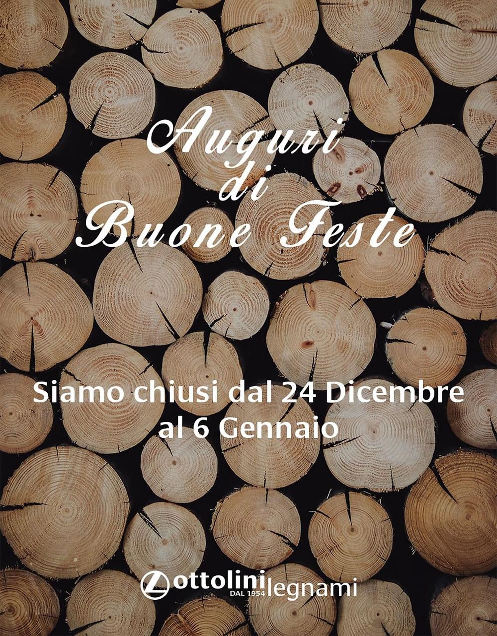 Auguri di Buone feste da tutto il gruppo Ottolini Legnami.
