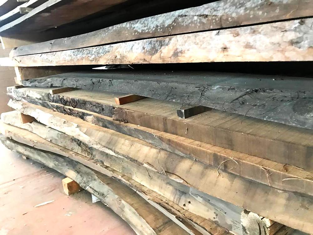 Tavole grezze di Noce. Legni pregiati per falegnamerie e mobilifici, Ottolini legnami, Verona.