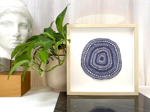 Mandala, blue