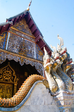Local Thai Temple in Lanna Style
